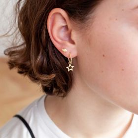 open star hanging earrings