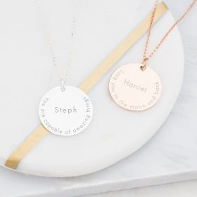 Imogen Inspirational Quote Personalised Necklace
