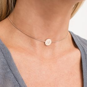 Personalised Disc Slider Necklace