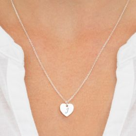 Marci Personalised Sterling Silver Heart Necklace
