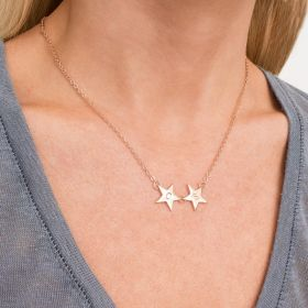 Personalised Initial Double Star Necklace