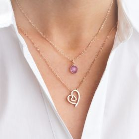 Personalised Nina Heart Layered Necklace