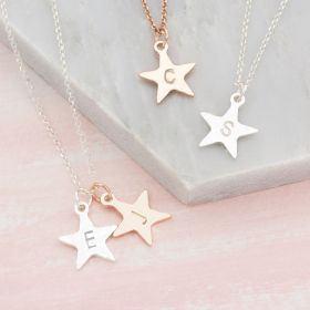 Personalised Hand stamped Star Necklace