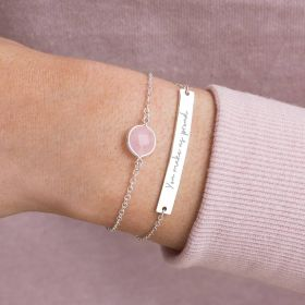 Alexa Personalised Birthstone And Bar Bracelet Set