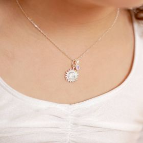 Mini Personalised Sterling Sun Charm Necklace