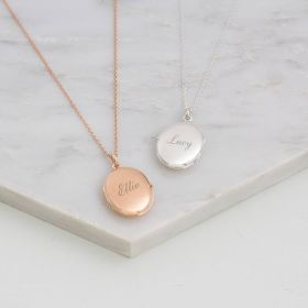 Sadie Personalised Sterling Oval Locket