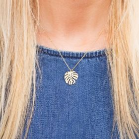 Rae Personalised Leaf Necklace