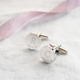 Initial And Date Personalised Cufflinks