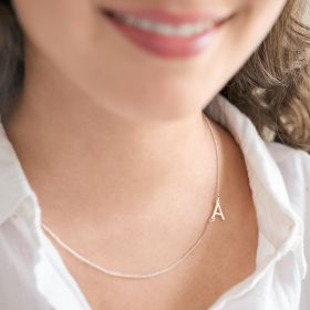 Personalised Contemporary Style Initial Pendant Necklace