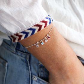 Personalised Family Micro Birthstone Bracelet