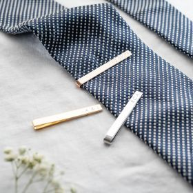 Personalised Tie Clip Engraved with Initials, a name or date