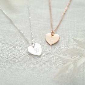 Personalised Heart Necklace in Silver and Rose Gold