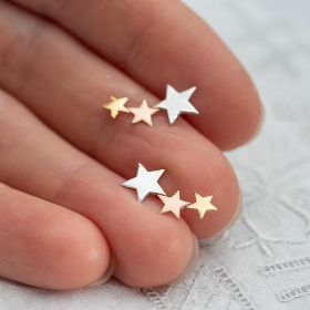 Shooting Star Sterling Silver Personalised Earrings