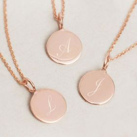Sia Sterling Silver Personalised Initial Necklace