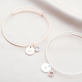 Rose Gold and Silver Skylyn Personalised Sterling Silver Bracelet