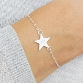 Personalised Sterling Silver Star Bracelet