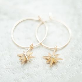 Personalised Starburst Hoop Earrings