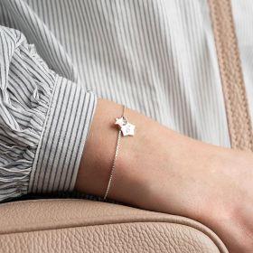 Hidden Sterling Silver Star Personalised Bracelet