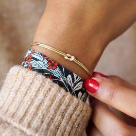 Gold Plated Sterling Silver Infinity Knot Bracelet