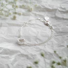 Sterling Silver Russian Rings Personalised Bracelet