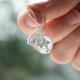 Personalised Sterling Silver Adventure Necklace