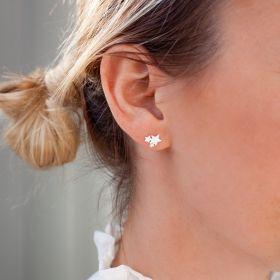Triple Star Cluster Sterling Silver Earrings