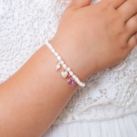 Mini Bloom Birthday Girl Personalised Sterling Silver Bracelet
