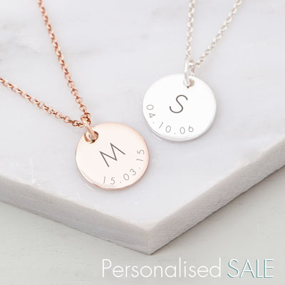 Bloom Boutique Personalised Jewellery Sale