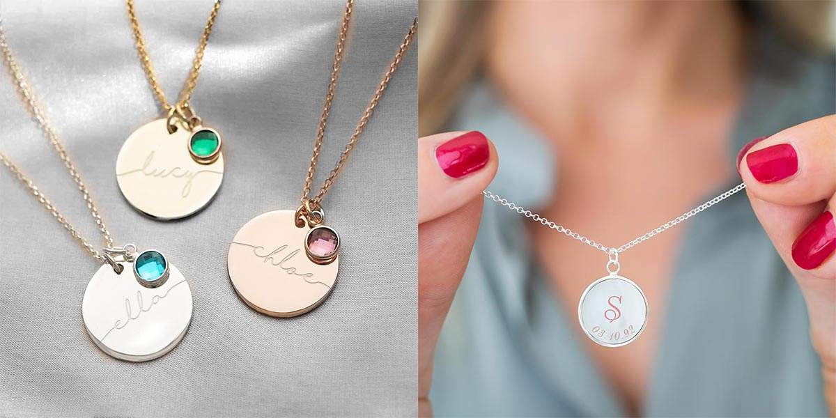 Bloom Boutique Personalised Disc Necklaces